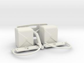 PM026-RC Pro Mod Dual Parachute Set in White Natural Versatile Plastic