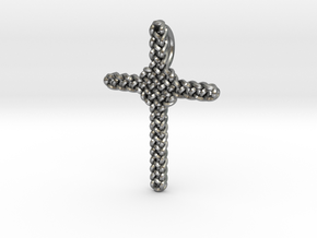 Celtic Cross Pendant - Christian Jewelry in Natural Silver