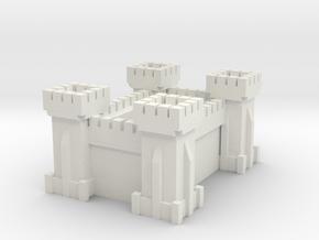 Castle Planter in White Natural Versatile Plastic: Medium