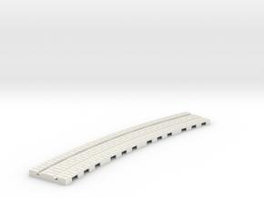 p-14st-curve-tram-long-2r-1a in White Natural Versatile Plastic