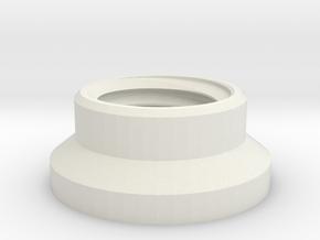 1:1 Apollo RCS Attach Nut in White Natural Versatile Plastic