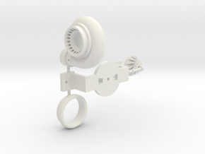PM031-RC Pro Mod Single Turbocharger Set in White Natural Versatile Plastic