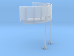 1/96 USN Fletcher deck 20mm tub starboard in Smooth Fine Detail Plastic