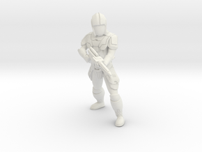 Sith Trooper with Carbine 1 in White Natural Versatile Plastic