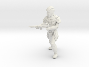 Sith Trooper with Carbine 3 in White Natural Versatile Plastic