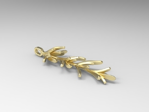 Rosemary Pendant in 18k Gold Plated Brass