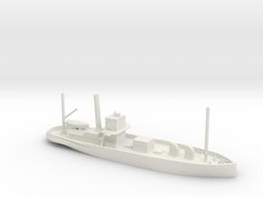 1/285 Scale Steam Tanker Ondee 1934 in White Natural Versatile Plastic