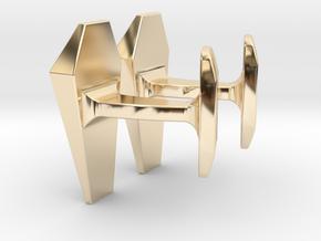 James Bond Coffin Cufflinks in 14K Yellow Gold
