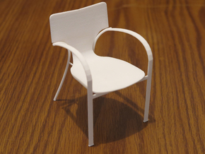 "Strada Chair 3.7"" tall in White Natural Versatile Plastic"