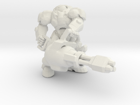 Starcraft Marine Chain Gun 1/60 miniature gamesRPG in White Natural Versatile Plastic