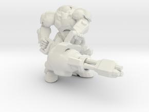 Starcraft Marine Chain Gun 1/60 miniature gamesRPG in White Natural Versatile Plastic