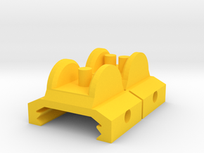 Iron Sights for Airsoft Inspired by Halo 2 M7 SMG in Yellow Processed Versatile Plastic