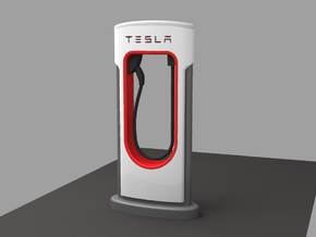 TESLA FAST CHARGER Scale 1/32 in White Natural Versatile Plastic