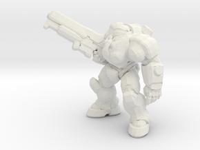 Starcraft Marine Rifle Up 1/60 miniature games in White Natural Versatile Plastic