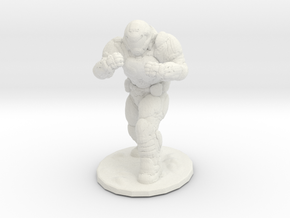 doomguy doom slayer hand to hand 28mm miniature in White Natural Versatile Plastic