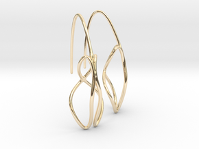Anura earring pair in 14K Yellow Gold