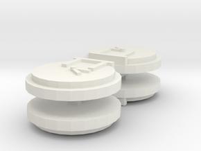 ERTL Bluebell Smokebox Door 15mm / 18mm in White Natural Versatile Plastic: Small