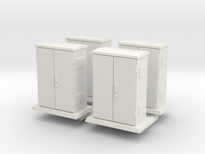 Padmount  Electrical Box 01. 1:72  Scale in White Natural Versatile Plastic