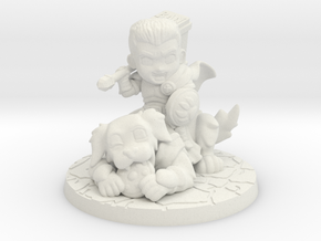 Discord Paladin and Dog in White Natural Versatile Plastic