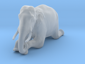 Indian Elephant 1:20 Kneeling Male in Smooth Fine Detail Plastic