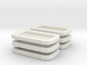 """1/40 USN CARLY FLOAT """"SQUARE"""" St x6 in White Natural Versatile Plastic"""