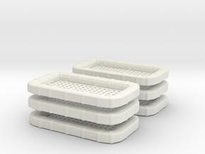 "1/35 USN CARLY FLOAT ""SQUARE"" Set x6 in White Natural Versatile Plastic"