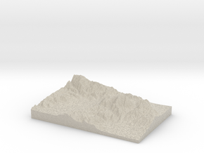 Model of Chocolate Mountain in Natural Sandstone
