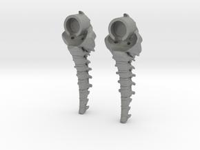 Skeleton nude heels in Gray PA12