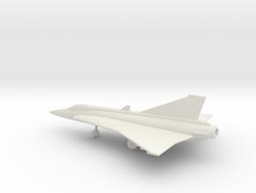 Saab J.35 Draken in White Natural Versatile Plastic: 1:160 - N