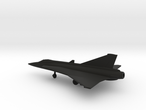Saab J.35 Draken in Black Natural Versatile Plastic: 1:200