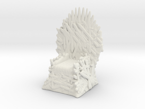 Game Of Thrones Iron Throne 1/60 miniature games in White Natural Versatile Plastic