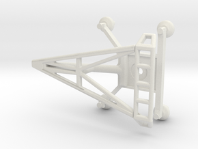O Scale Pantograph in White Natural Versatile Plastic