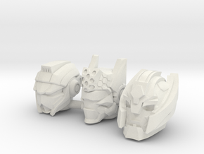 Universe Head 3-Pack (4mm) in White Natural Versatile Plastic