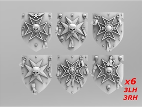 Templars Storm Shields Set 1 in Smooth Fine Detail Plastic