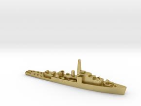 HMS Loch class 1:1800 WW2 frigate in Natural Brass
