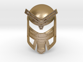 Mask of Power in Polished Gold Steel