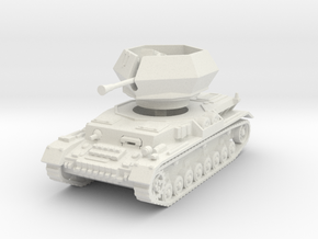 Flakpanzer IV J Ostwind 1/56 in White Natural Versatile Plastic