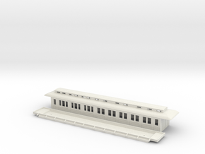 BCo1 model 96 - Swedish passenger wagon in White Natural Versatile Plastic