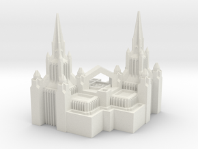 San Diego Temple Christmas Ornament in White Natural Versatile Plastic
