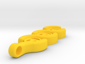 The three Stages to a Smile ~ mk-1 in Yellow Processed Versatile Plastic