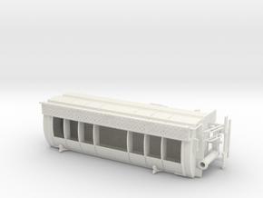 1/64th Walinga type Bulk Feed Truck Body in White Natural Versatile Plastic