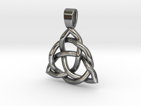 Triquetra 2019 Version 18MM in Polished Silver