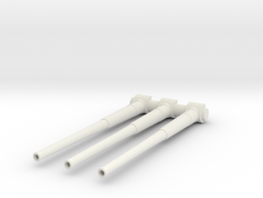 1/100 IJN 46cm/45 (18.1 in) Type 94 Gun Barrels in White Natural Versatile Plastic