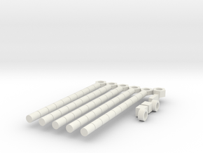 POTP: Masters' Rod and Stock in White Natural Versatile Plastic