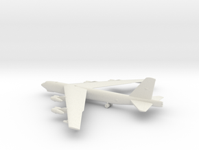 Boeing B-52 Stratofortress in White Natural Versatile Plastic: 1:285 - 6mm