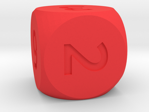 [1DAY_1CAD] DICE_number in Red Processed Versatile Plastic