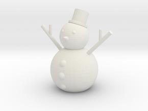 [1DAY_1CAD] SNOWMAN in White Premium Versatile Plastic