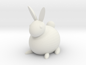 [1DAY_1CAD] RABBIT in White Premium Versatile Plastic