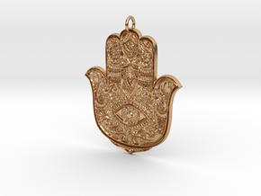 Hamsa in Polished Bronze