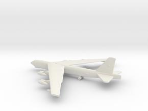Boeing B-52 Stratofortress in White Natural Versatile Plastic: 1:500